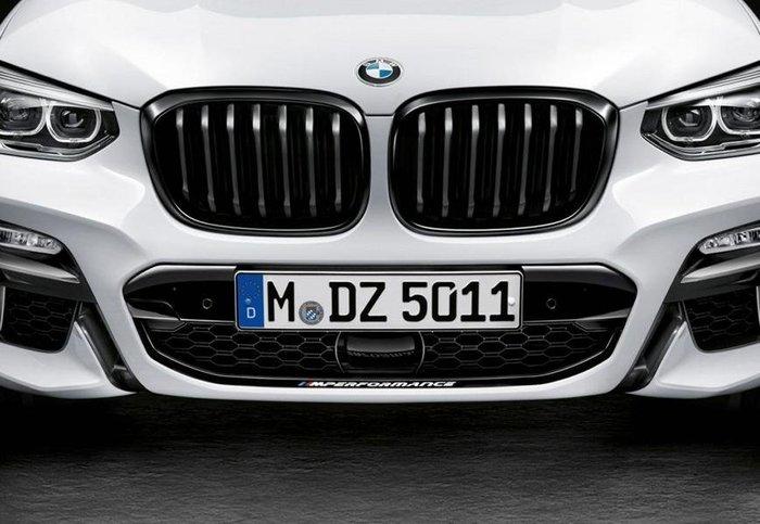 【樂駒】BMW 原廠 G01 X3 M Performance 亮黑 水箱罩 改裝 精品 空力 加裝 黑鼻頭