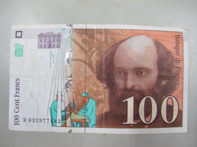 二手舖 NO.414 法國加入歐元區前最後一版紙鈔--1997年