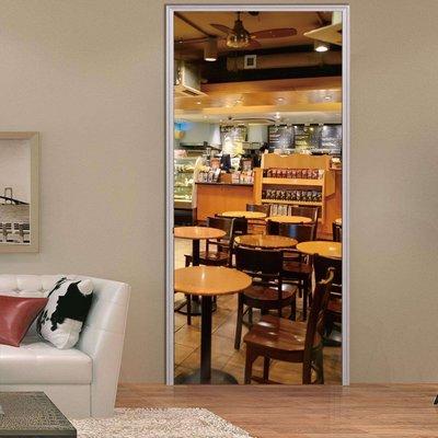暖暖本舖 假餐廳咖啡廳門貼 創意裝飾貼...
