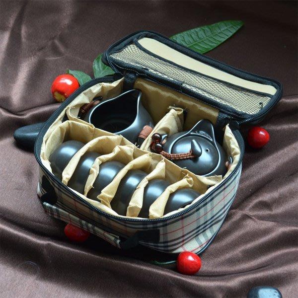 5Cgo【茗道】含稅會員有優惠 39691422481 茶具套裝整套陶瓷定窯功夫茶具戶外旅行便攜茶壺茶杯公道杯 8件套