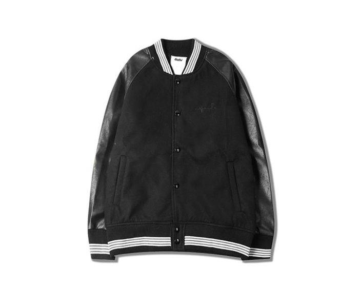 【NoComment】日系街頭原宿潮流風格的一款棒球刺繡外套 黑白兩色 Adidas Y3