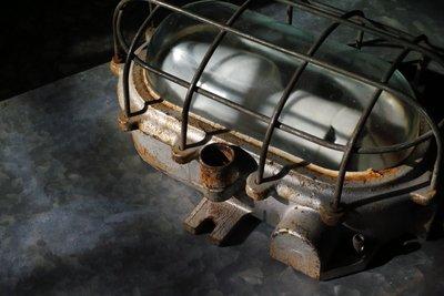 挖你老物《 德國50年代工業防爆燈 / 壁燈 / 坑道燈 》復古 老件 vintage 古董 古物 古道具 舊貨 二手