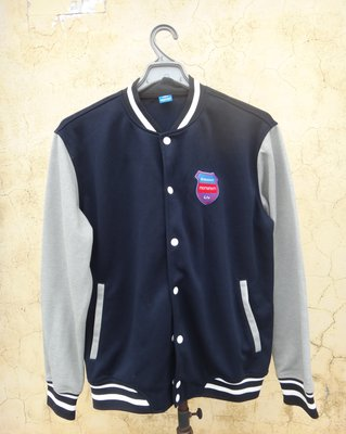 jacob00765100 ~ 正品 GIANT 藍灰雙色 棒球外套 size: L