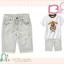 【B& G童裝】正品美國進口GYMBOREE Distressed Denim Short刷白牛仔短褲7,8yrs