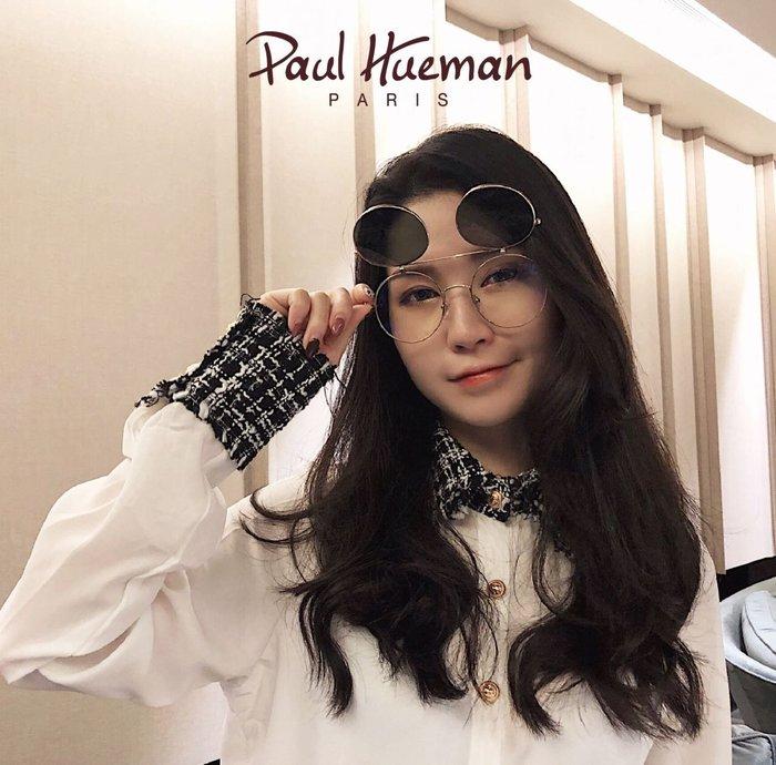 Paul Hueman 韓國熱銷品牌 金色金屬兩用光學眼鏡 掀蓋式雙槓太陽眼鏡 迪士尼樂園款 米奇米妮 PHS900D 900