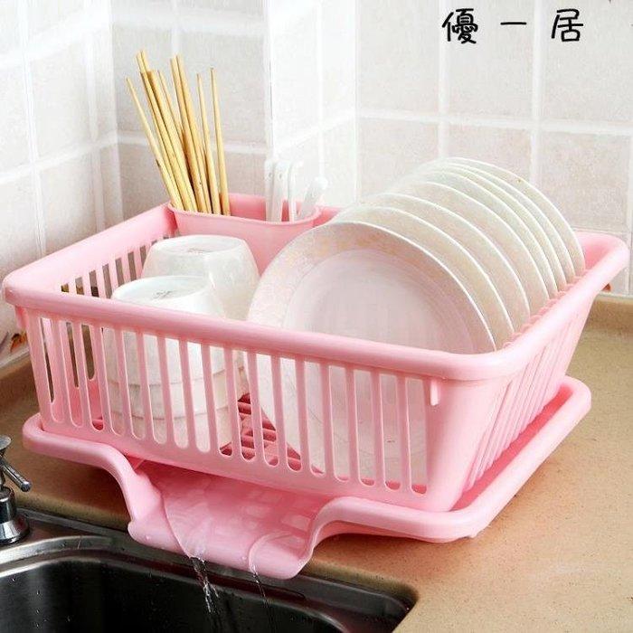 廚房放碗架 塑料用品瀝水滴水碗碟架碗筷收納置物架收納盒收納籃Y-優思思