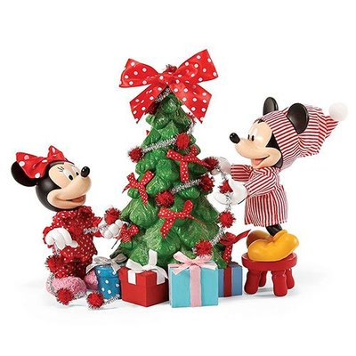 🗽Dona美國代購🗽預購 Enesco 迪士尼米奇米妮聖誕節裝飾聖誕樹 塑像 公仔擺飾裝飾