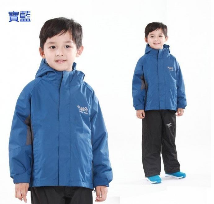 兒童款 防風防雨三穿保暖外套 兒童兩件式防風雨三穿保暖外套~超值的多功能二件式外套,防風、保暖、防潑水 兒童款兩件式外套