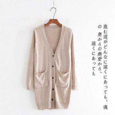 原單小確幸~韓國進口 純色長板顯瘦羊毛針織口袋毛衣外套 3色 M-L//現貨特價389