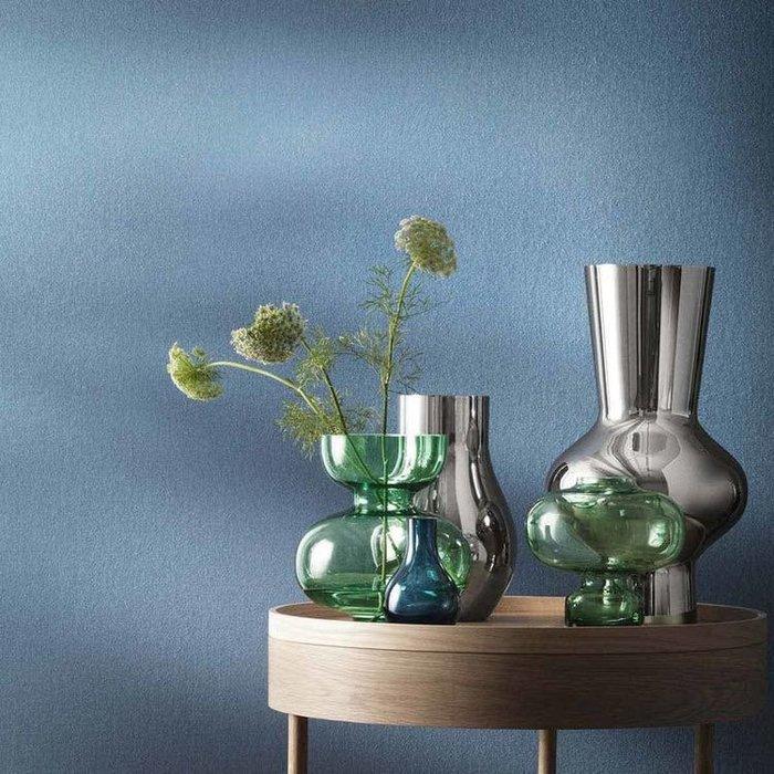#創意 裝飾品 居家Lovely超級美ins風大牌家居凹造型的綠色玻璃花瓶