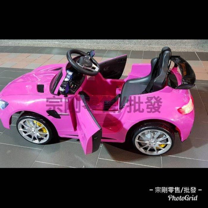 【宗剛零售/批發】賓士 AMG 原廠授權(單人座雙馬達)GT R 兒童超跑 GT S 兒童騎乘電動車 可前後搖擺 Mer