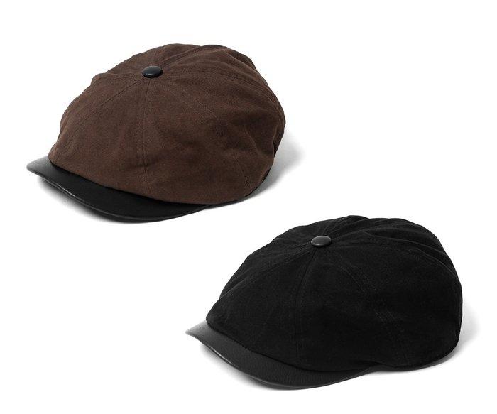 { POISON } RETRODANDY HUNTING CAP 小牛皮格帽簷 經典狩獵帽