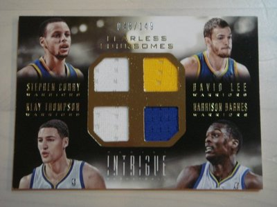 第一家卡店 13-14 Intrigue 勇士五星 Curry Klay Thompson Lee 四格球衣 */149
