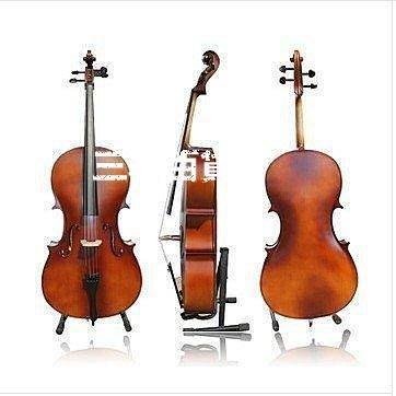 三季送座架琴包!意大利風格高檔亞光4分4成人兒童大提琴手工制作練習表演大提琴 高檔❖801