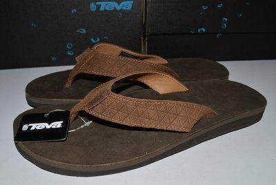 Teva 全新 現貨 經典 Diamond 真皮 夾腳拖 皮拖鞋 US10 舒適 避震 保證原廠正品