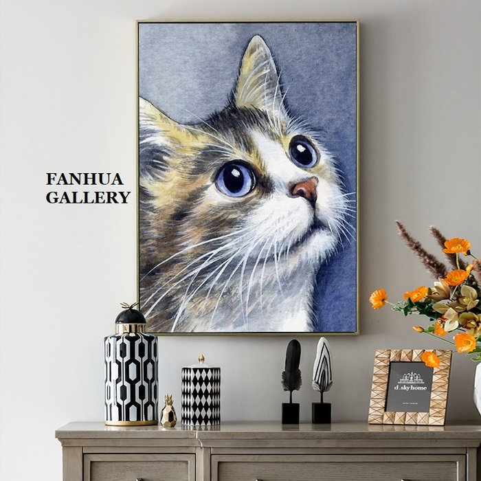C - R - A - Z - Y - T - O - W - N 彩色動物油畫風格掛畫貓頭鷹斑馬大象老虎麋鹿軟裝設計裝