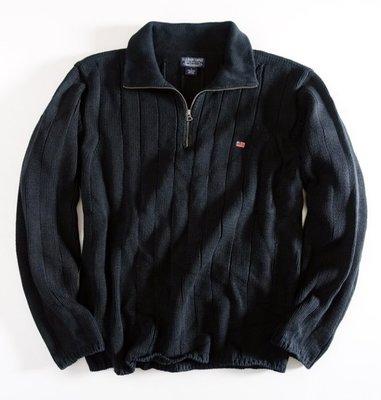 美國品牌 POLO JEANS COMPANY 深藍色 純棉 針織衫 L號