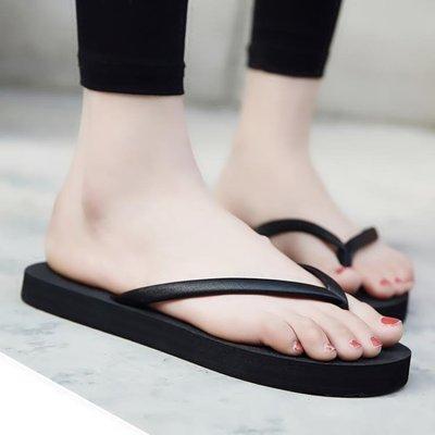 拖鞋女夏平底防滑沙灘鞋外穿海邊夾腳涼拖...