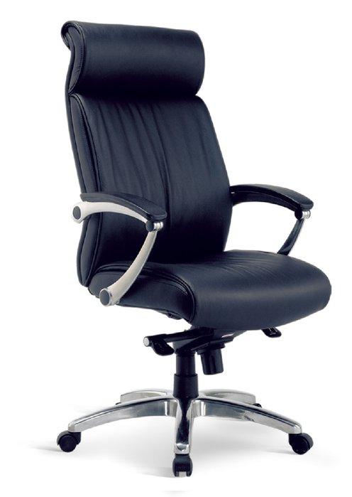【人家人具】大型辦公椅(牛皮/懸背/鋁合金腳)OA295-1