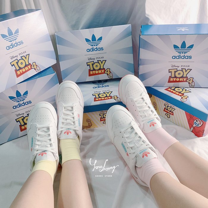 【Luxury】Adidas Continental 80 X 玩具總動員 叉奇 FORKY 大童 親子鞋 女款  中童