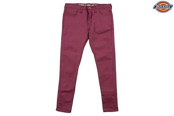 DICKIES  WP810 斜紋布五口袋工作長褲 OX 酒紅色