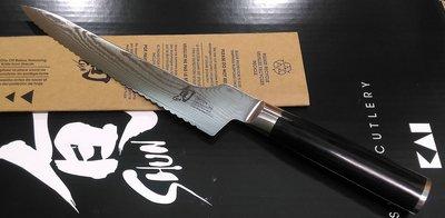 J旬SHUN ~CLASSIC ~8.25吋麵包刀~VG10折疊鋼龍紋刀DM0724