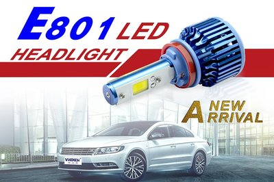 最新爆亮 CREE COB LED大燈泡 霧燈 9006 H11 H4 H7 H1 6000K 白光 不是 4300K