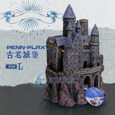 【AC草影】PENN-PLAX 龐貝 藍珍珠古堡(L)【一個】BSD01025