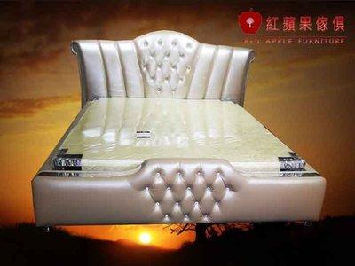 [紅蘋果傢俱]NEW CT-03 新古典系列 歐式家具 新古典 5/6尺 法式雙人床 皮床 床架