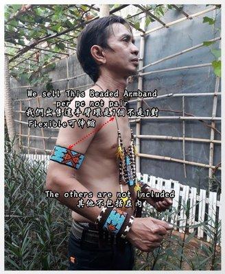 印第安手臂環 印第安飾品  印地安風 印地安手臂環 Beaded Armband Indian accessory D款 新北市