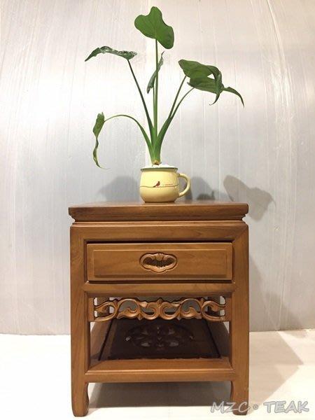 【美日晟柚木家具】XP 05 柚木花架 原木小茶几 原木角落架 電話櫃(45公分)