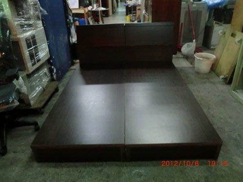 樂居二手家具*全新胡桃雙人床組 標準雙人床箱含床頭*床箱 床頭櫃 床組