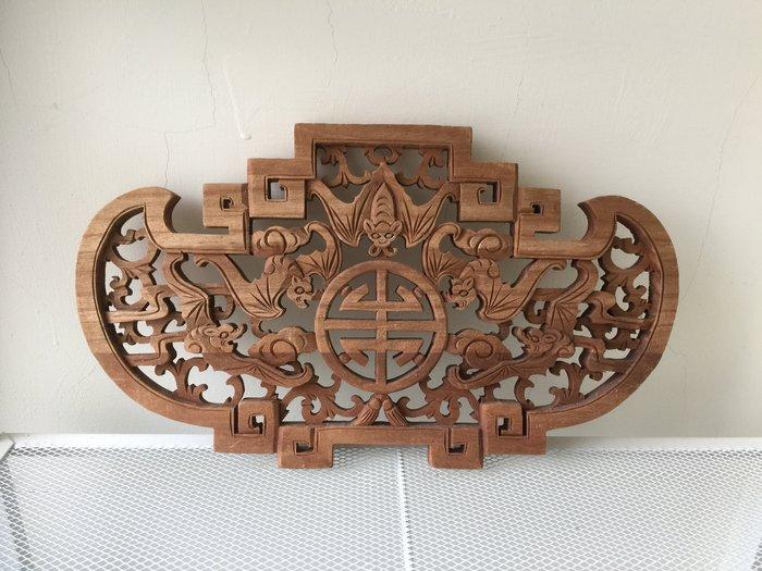 雕刻掛飾 藝術 民俗 收藏 擺飾  (木製)39*22*1.5cm