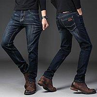 春秋新款外貿男式彈力牛仔褲商務修身直筒男裝大碼長褲子 Y802