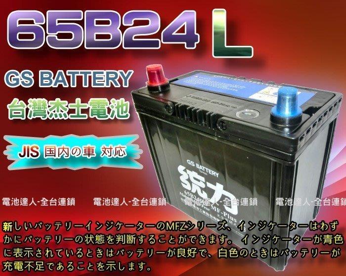 【鋐瑞電池】GS電瓶 杰士 65B24L 統力汽車電池 SENTRA LIVINA MARCH TIIDA 55B24L