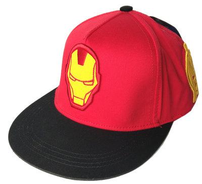【卡漫迷】 鋼鐵人 帽子 標誌 ㊣版 Iron Man 兒童童帽 遮陽帽 棒球帽 網球帽 鴨舌帽 棉 Marvel 漫威