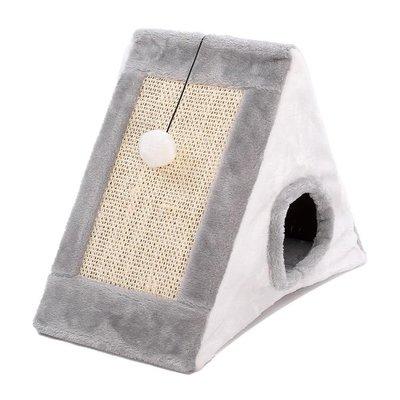 小型貓爬架貓抓板貓窩冬房子貓屋一體別墅貓咪劍麻磨爪寵物貓玩具WY