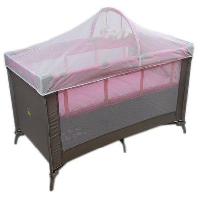 BabyBabe 新款初生型遊戲睡床~ 附蚊帳+雙層架◎童心玩具1館◎