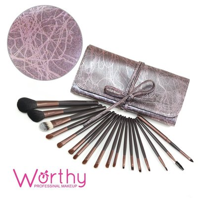Worthy哇喜 18支紫藕色彩絲壓紋套刷(W18)