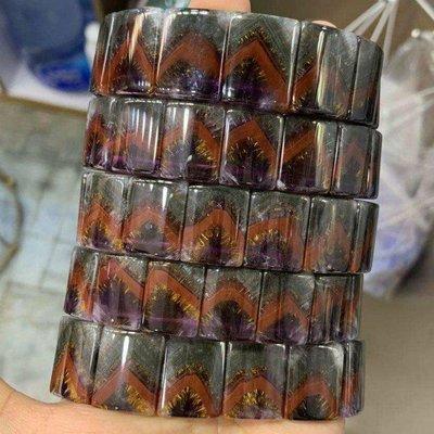 《施家椪氣 紫晶讚》《金字塔極光23 紫鈦手排$12800》 #紫鈦 #黃金紫鈦 #紫鈦手排
