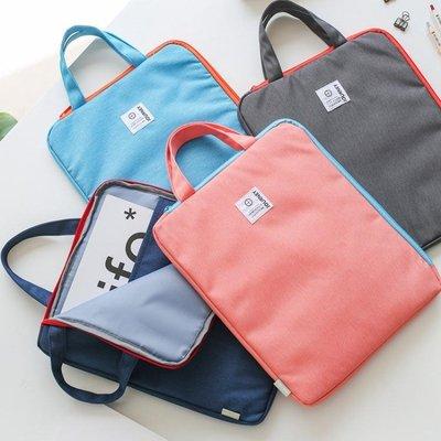 a4文件袋帆布補課包學生手提袋拎書袋文件收納補習袋公文包女補習 全館免運