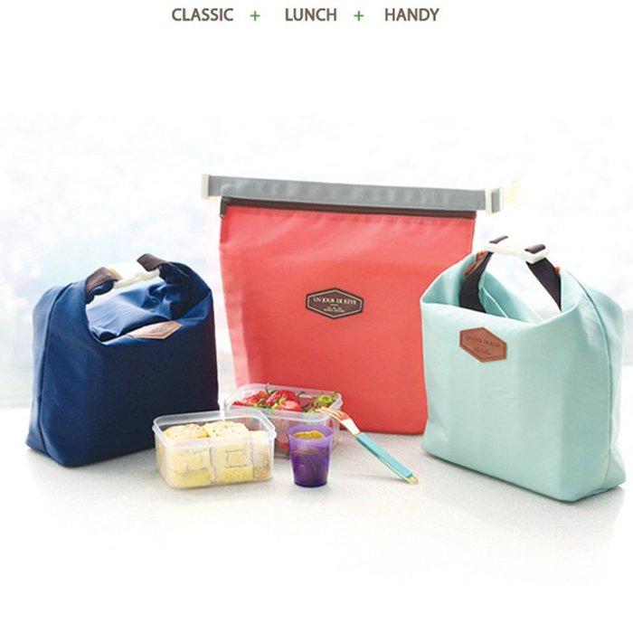 艾莉小舖 韓版 便當袋牛津布 鋁箔 保鮮袋 珍珠棉保溫袋 野餐包 保冷袋 保冰袋 母乳袋