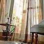 針織蝴蝶窗簾【 寬150*高210cm】輕薄透光。...