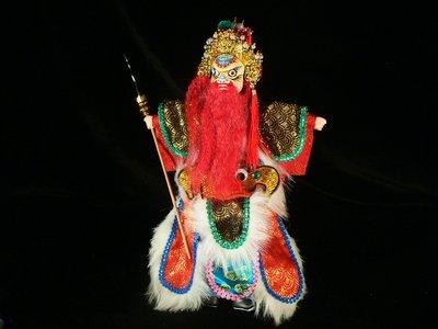乖乖@賣場~早期布袋戲偶.頭為木頭製.手為塑膠.繡衣.精緻布袋戲偶.白面紅鬚財神.PK80