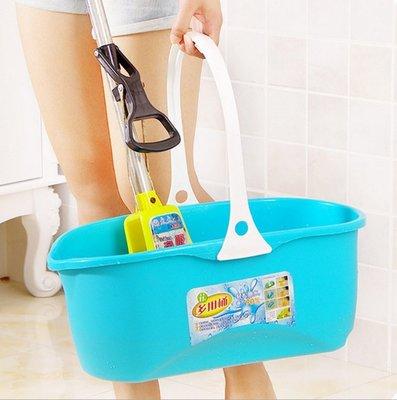 【大口徑多功能水桶】拖把桶方形塑料水桶加厚方形平板拖把桶拖把直立擠水桶