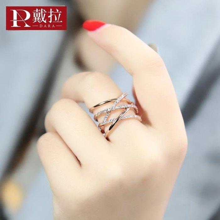 開口戒指女日韓韓國潮人簡約夸張中指食指個性指環