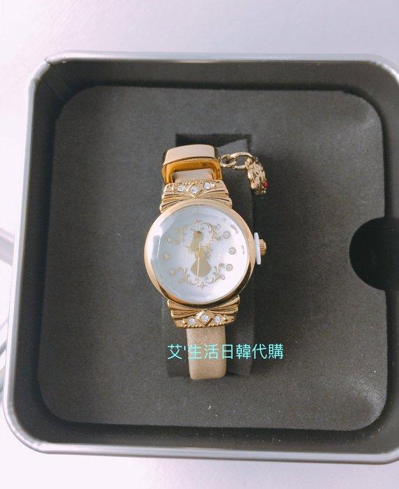 代購現貨  香港迪士尼美女與野獸貝兒手錶