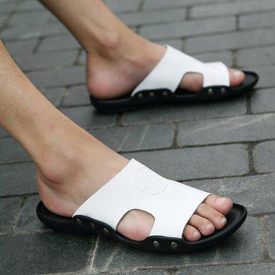 現貨/涼拖鞋男士拖鞋外穿防滑室外一字拖沙灘鞋涼鞋潮/海淘吧F56LO 促銷價