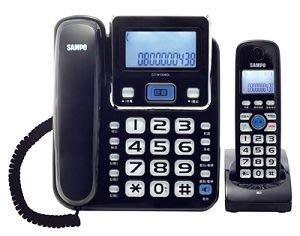 聲寶2.4GHz高頻數位無線電話~黑/白/紅 CT-W1304DL