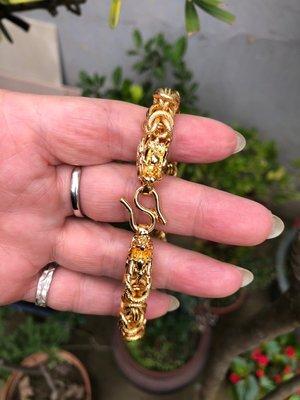 越南沙金雙龍頭手鍊  做工精緻  配戴真的很霸氣好看   19公分長  分享價